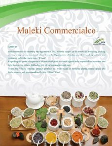 catalog-Export of Herb essential oil - Maleki Commercial Co.